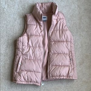 Old navy pink/rose puffy vest